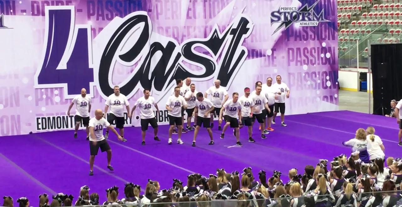 Dads Perform Cheerleading Routine