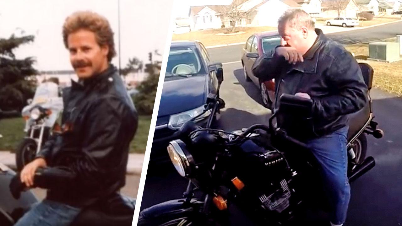 Son Surprises Dad by Secretly Restoring His Vintage Motorcycle