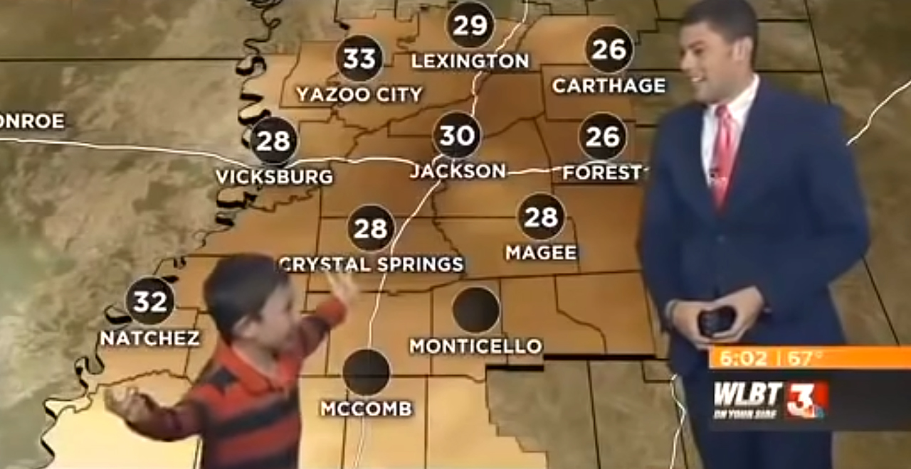 Kid Hijacks Weather Report