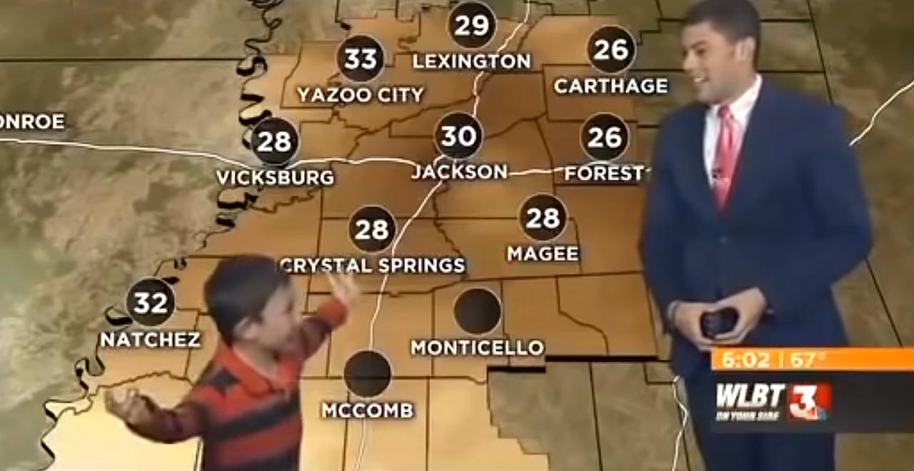 Kid Hijacks Weather Report