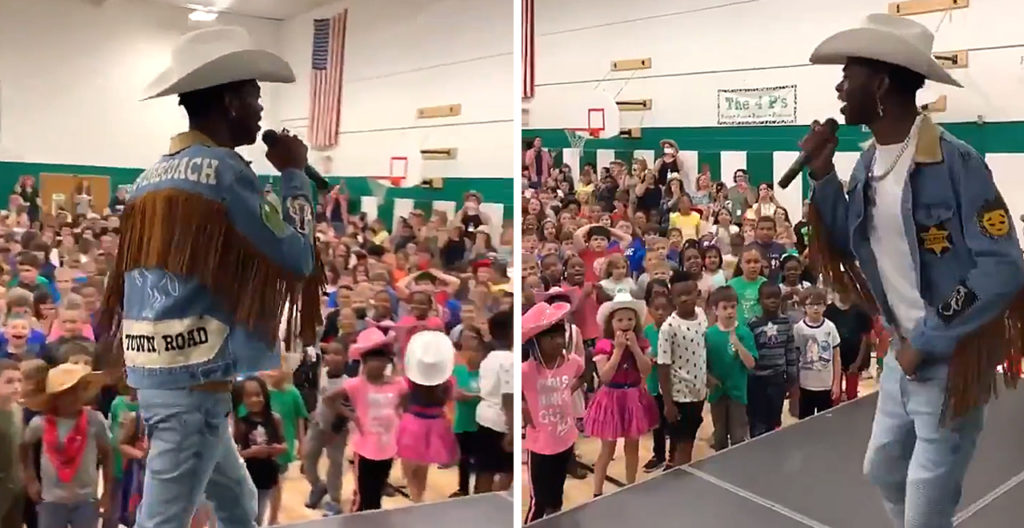 Lil Nas X Performs For Students