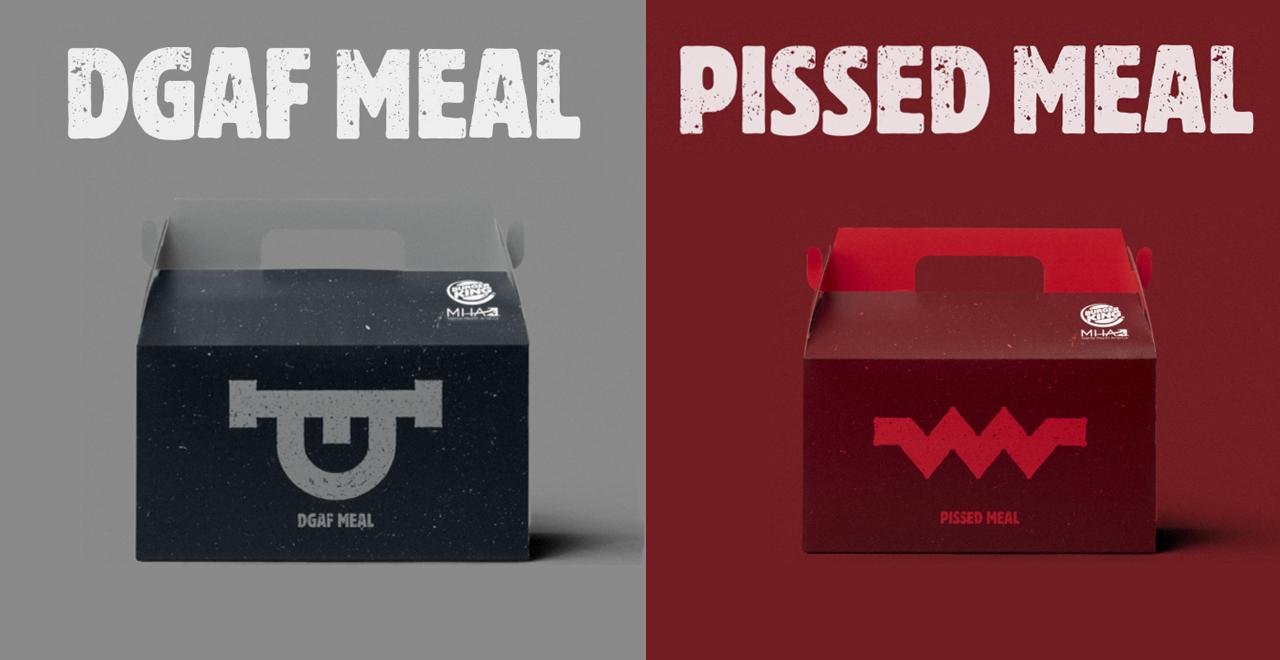 Burger King DGAF and PISSED Meals