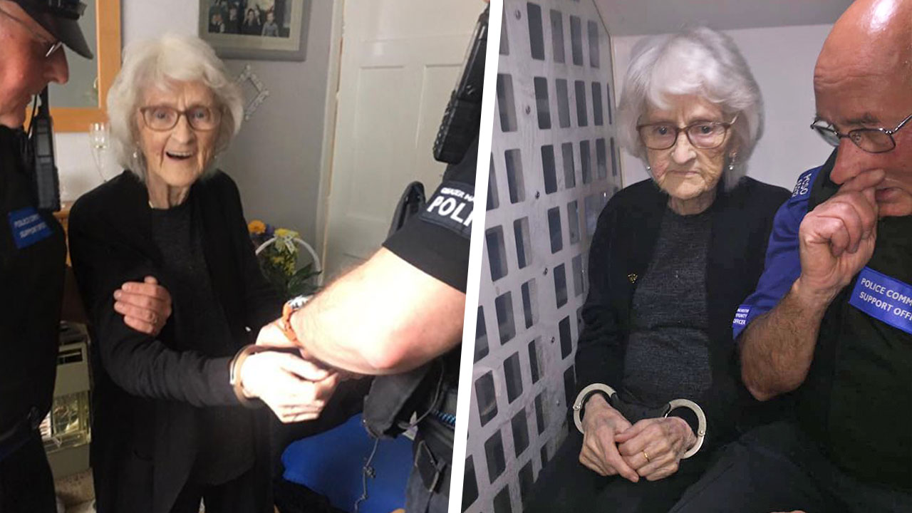 92-year-old grandma arrested to cross it off her bucket list