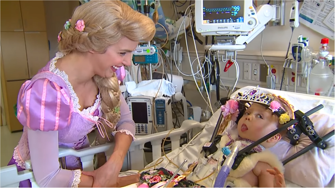 Princess Party for 2yo Spinal Surgery Patient