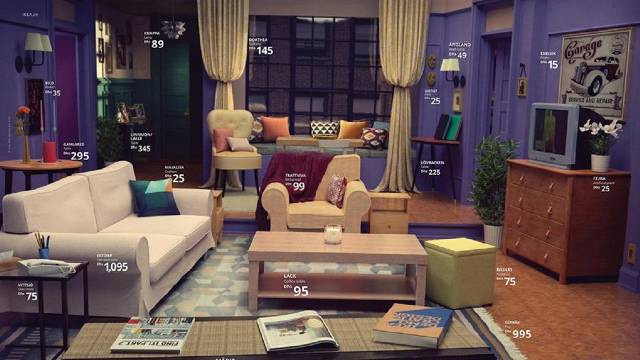 IKEA Recreates Famous Rooms