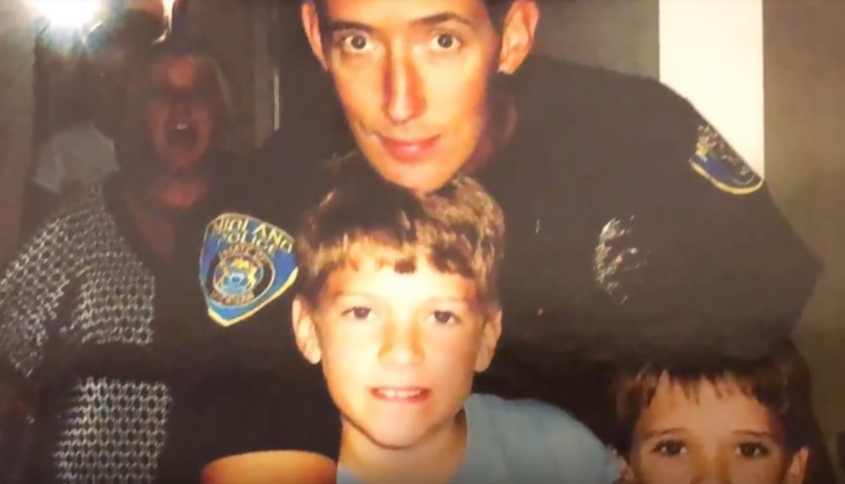 Police officer and son