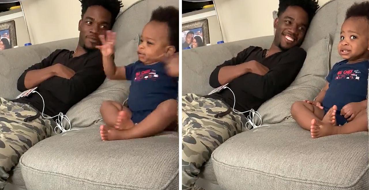 Dad Talks Baby Gibberish