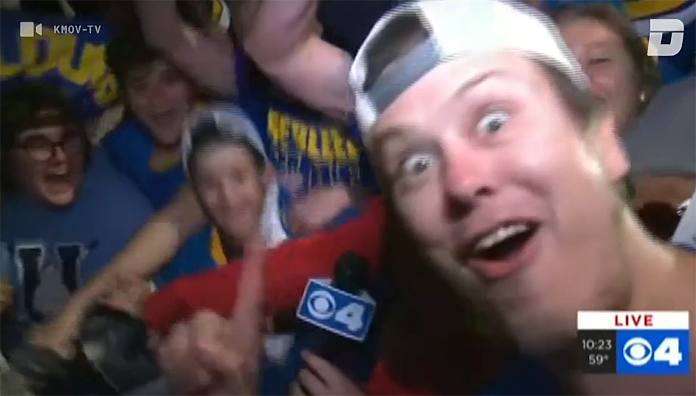 Blues Fans on the news
