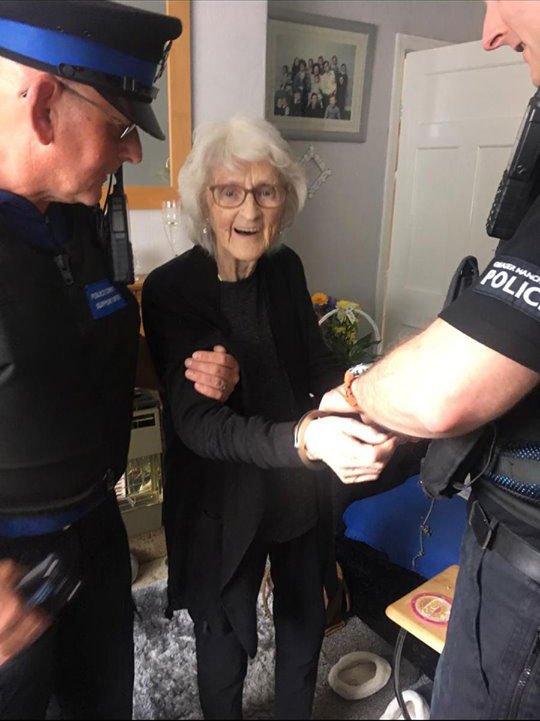 Grandmother arrested to cross it off her bucket list