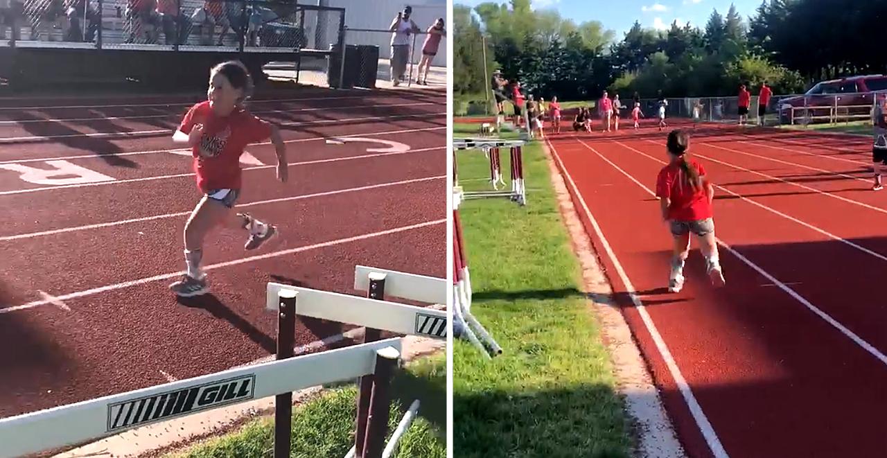 7yo With Spina Bifida Runs Track