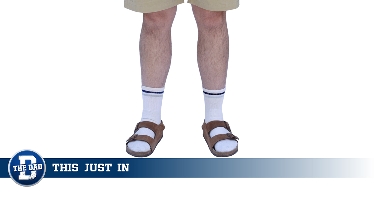 Dad Wears Socks AND Sandals