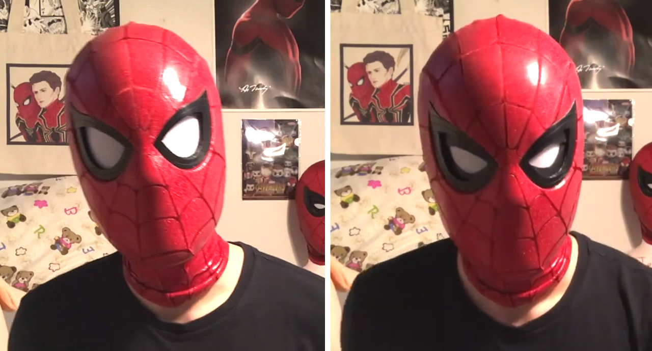 Spider-Man Mask Mechanical Lenses