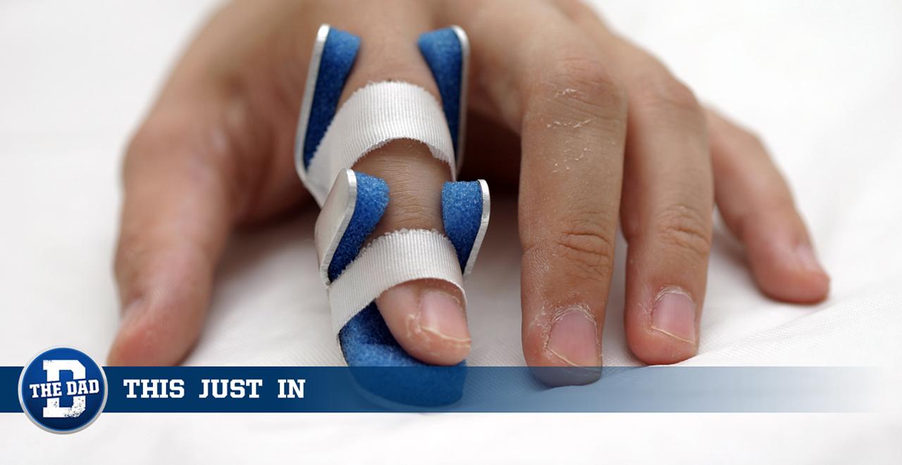 Dad Sprains Finger