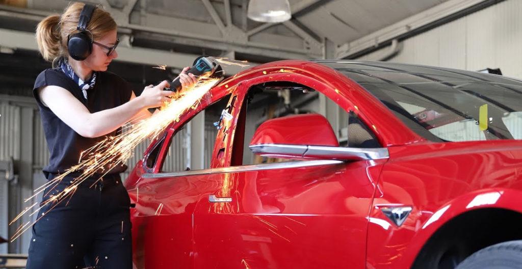 Woman Transforms Tesla into Truckla