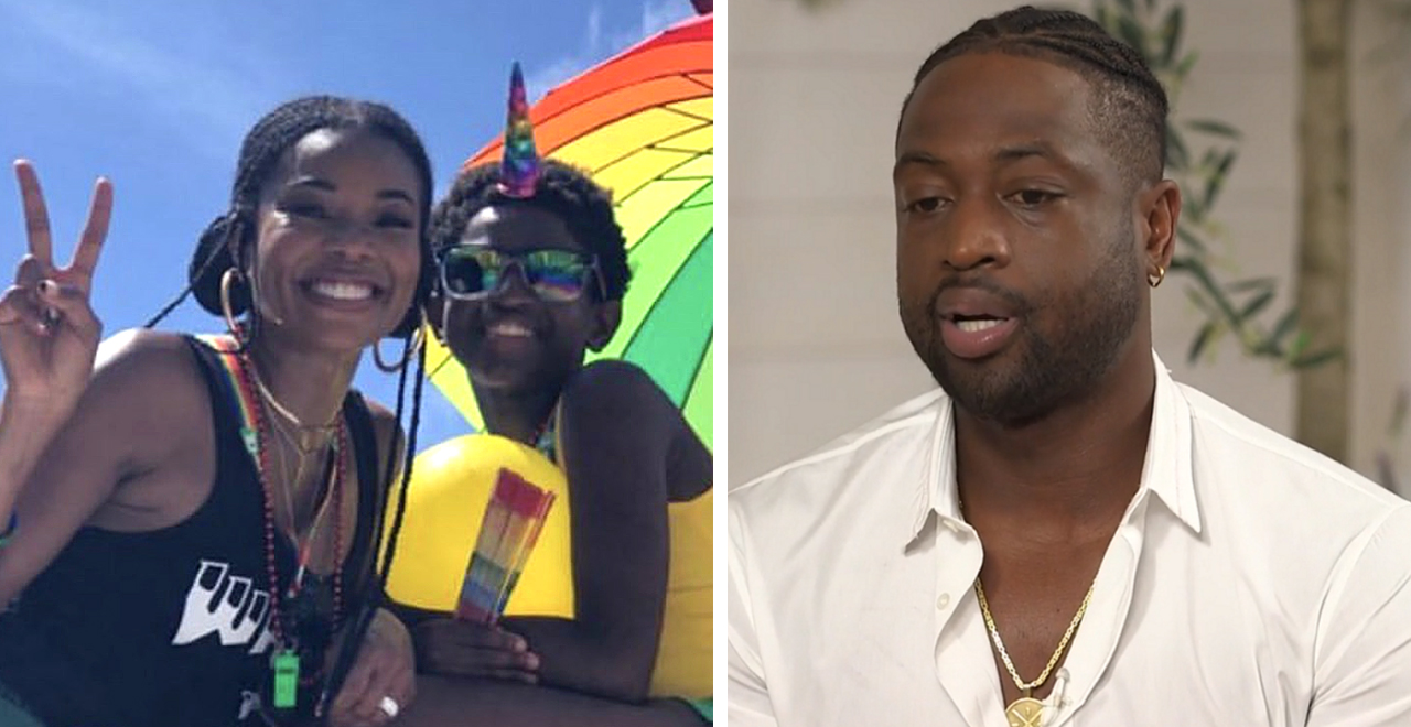 Dwyane Wade Supports Son