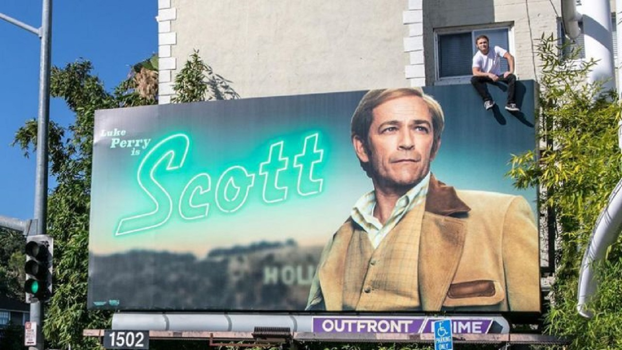 Luke Perry's Son Climbs Dad's Billboard