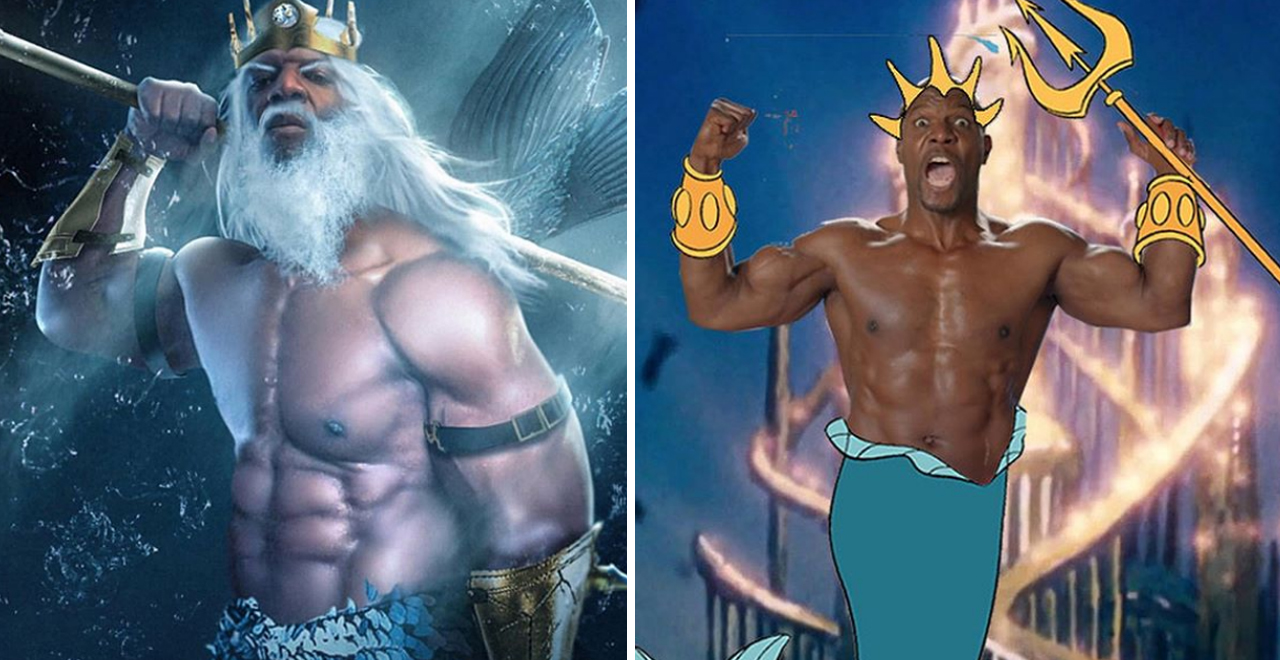 Terry Crews as King Triton