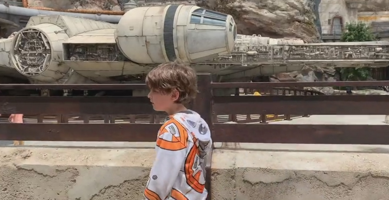 Dad and Son Film Movie at Galaxy's Edge