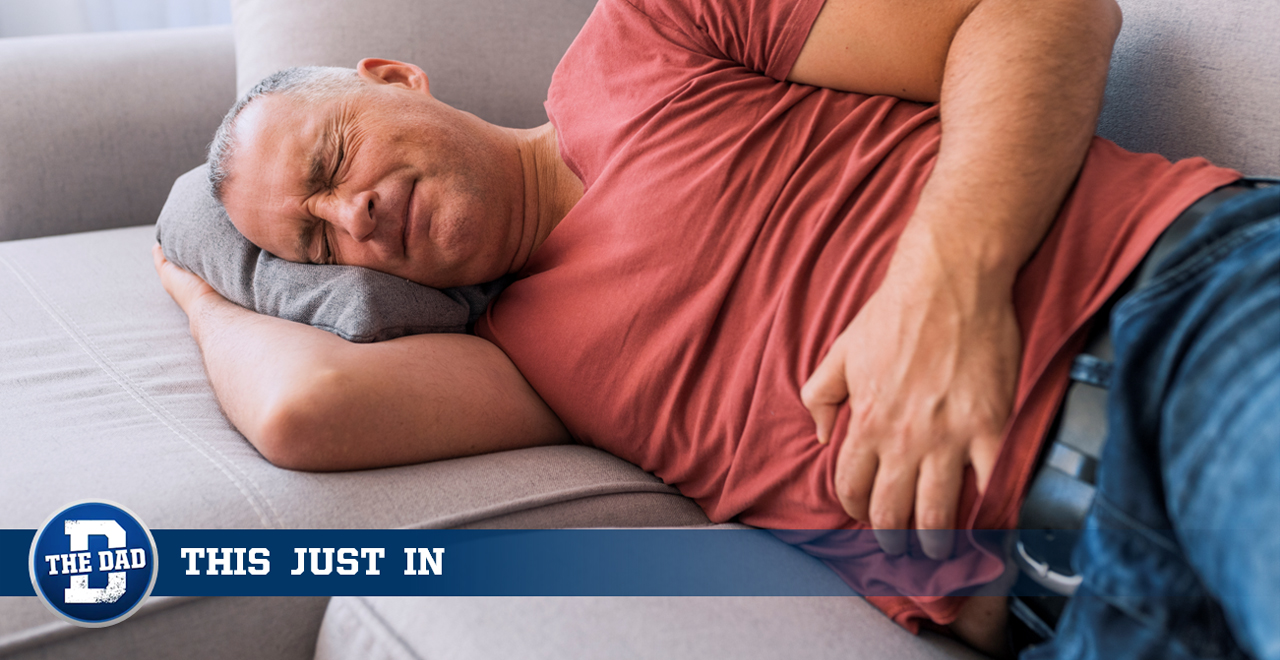 Dad Unable to Fart Unless Finger is Pulled