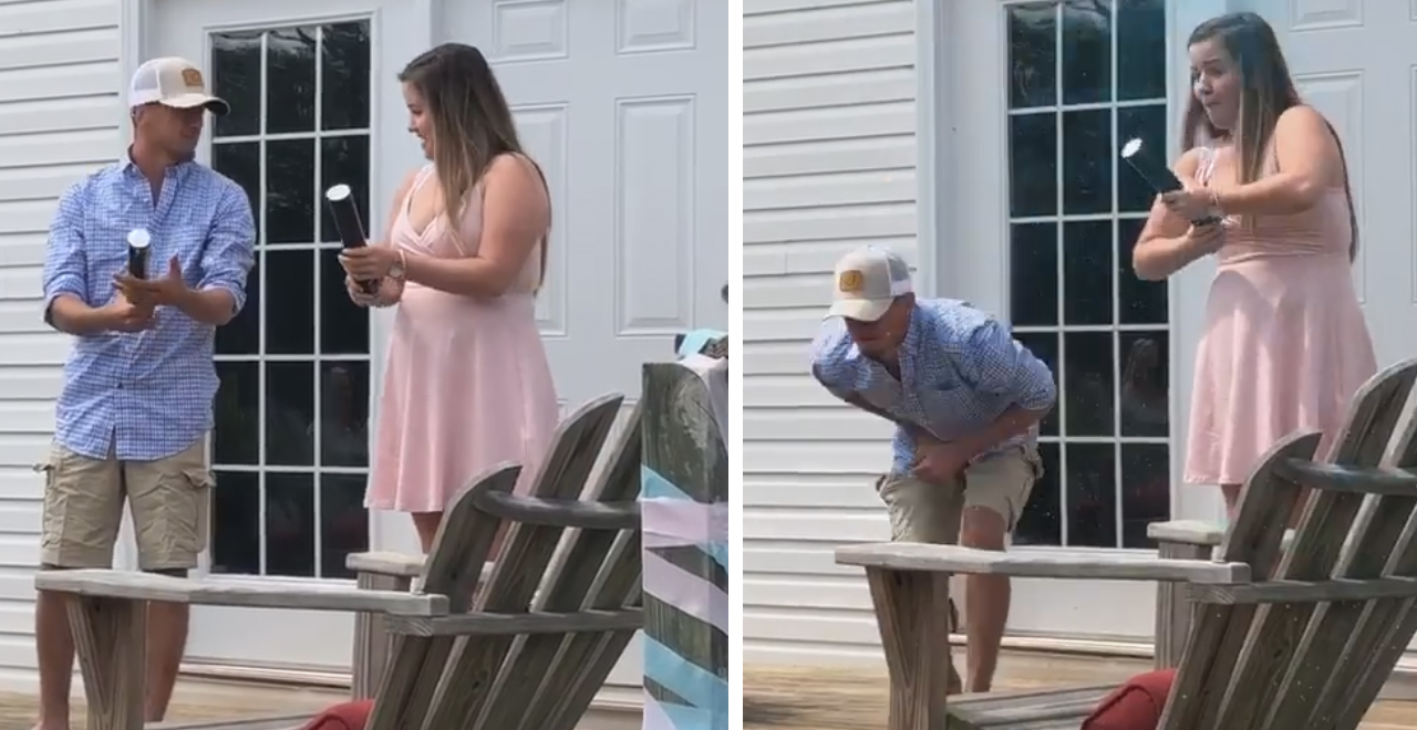Gender Reveal Nut Sack Mishap