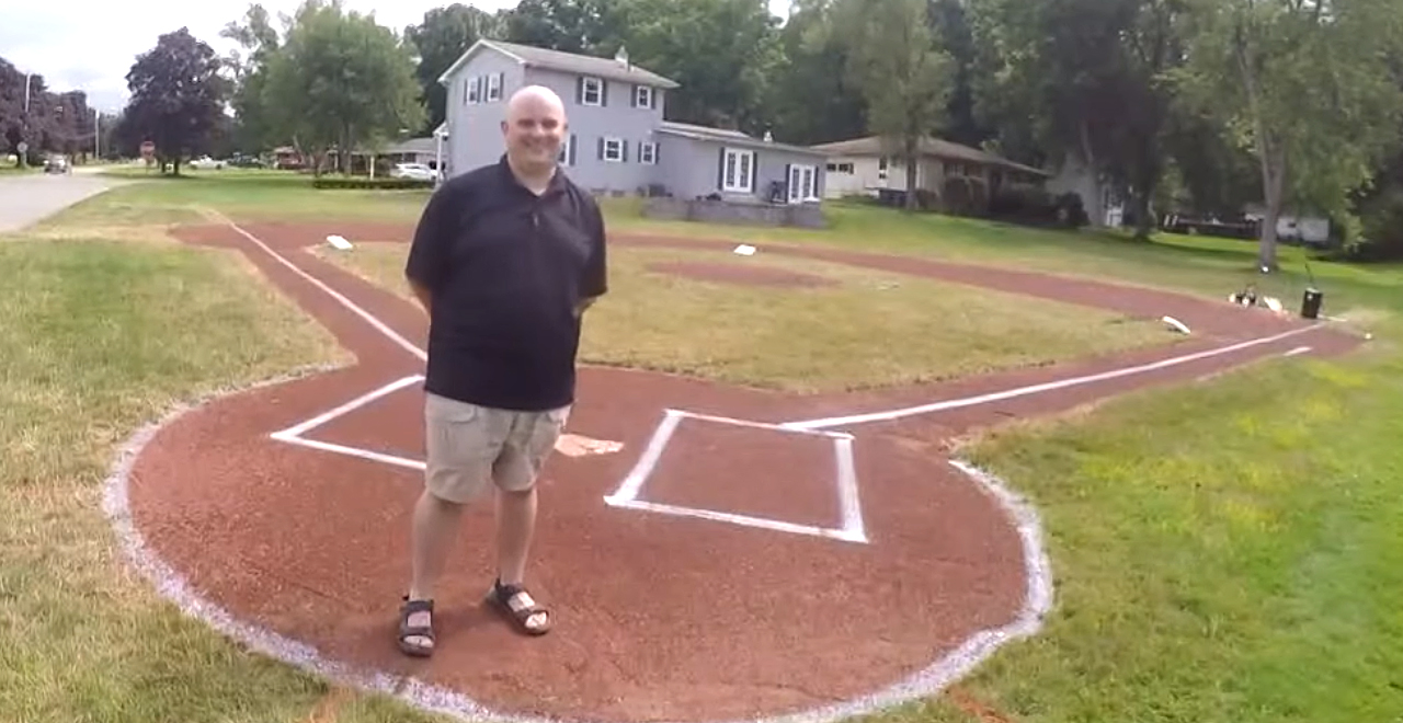 Dad Builds Baseball Field