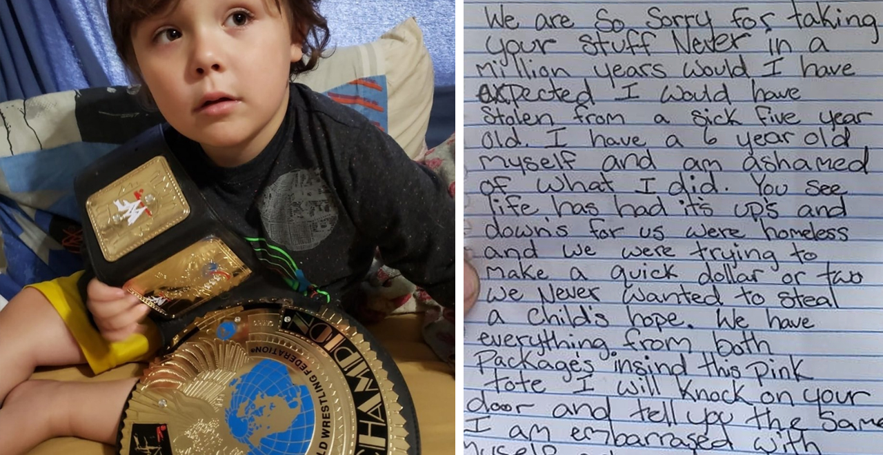 Porch Thieves Return Package for Sick Boy