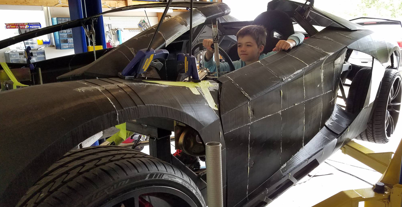 Father and Son 3D Print Lambo