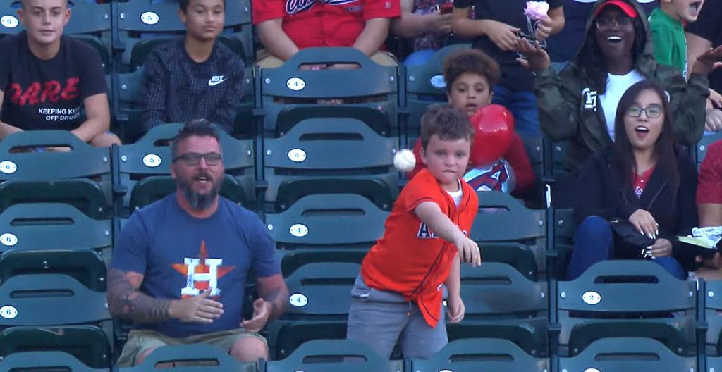 Kid Throws Back Homer