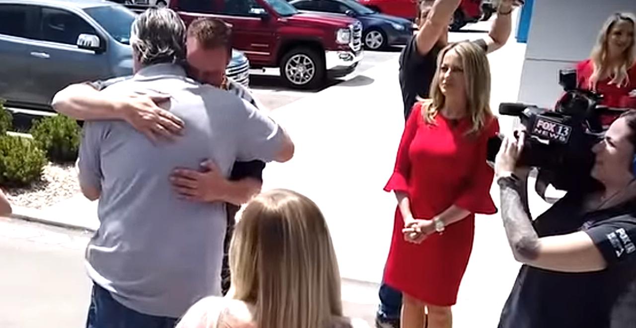 TV Crew Surprises Widowed Dad