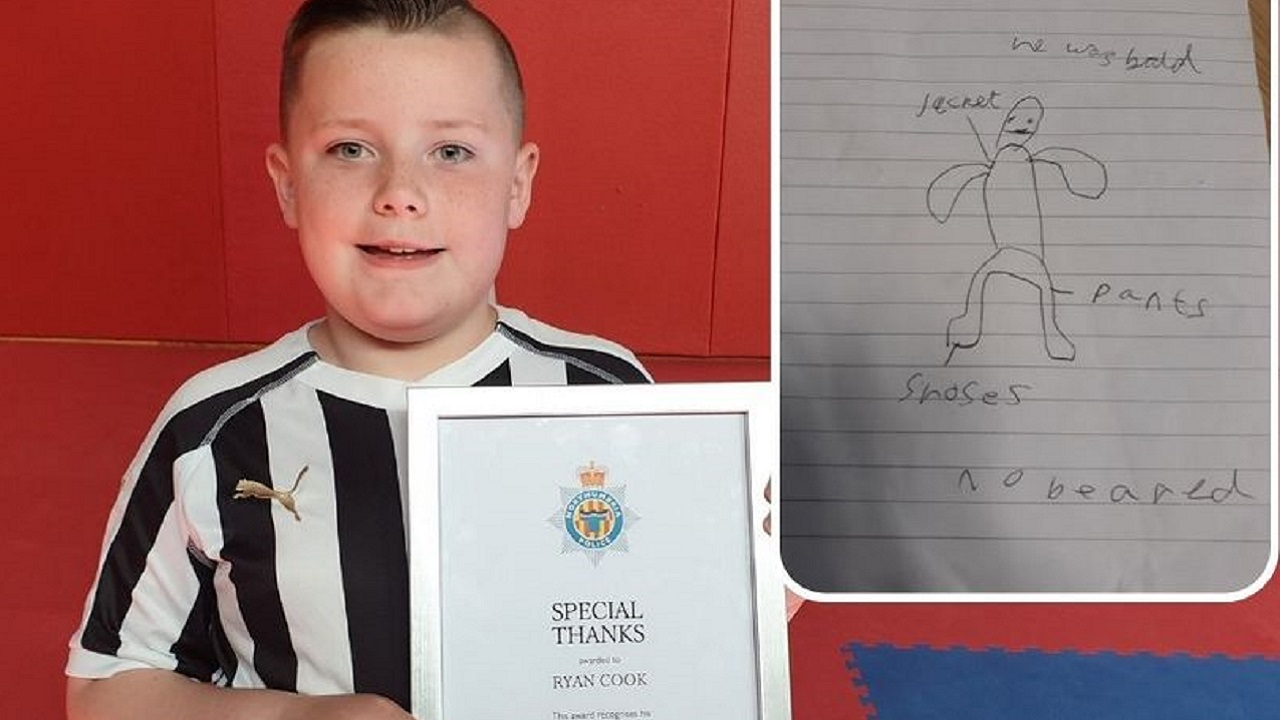 Boy's Sketch Helps Police