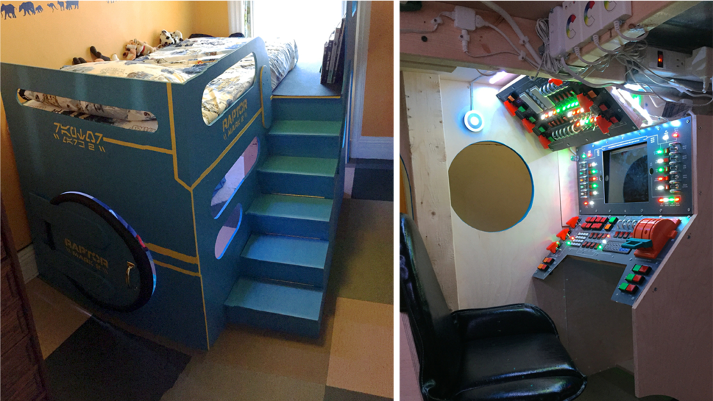 You'll Lose Sleep Trying to Build This DIY Spaceship Bed For Your Kid