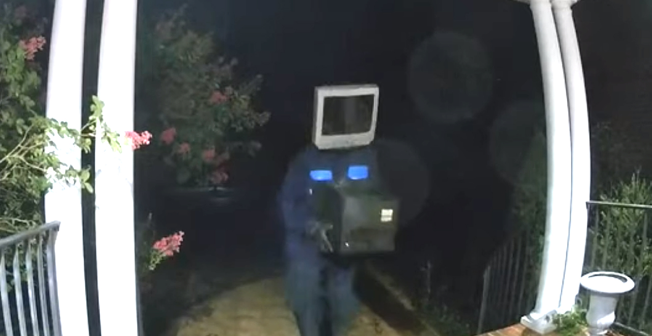 TV Dude Leaves TV on Porch