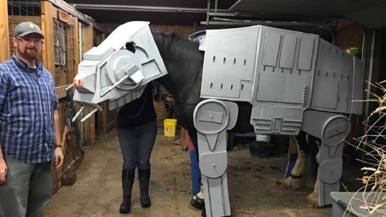 Michael Corrie and AT-AT Horse