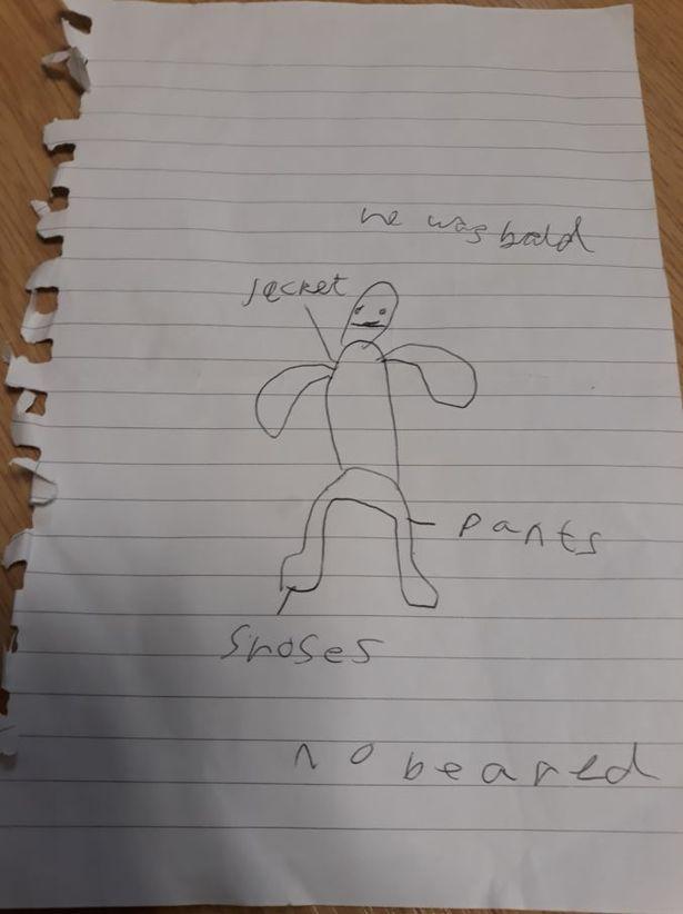 Boy Sketches Suspect