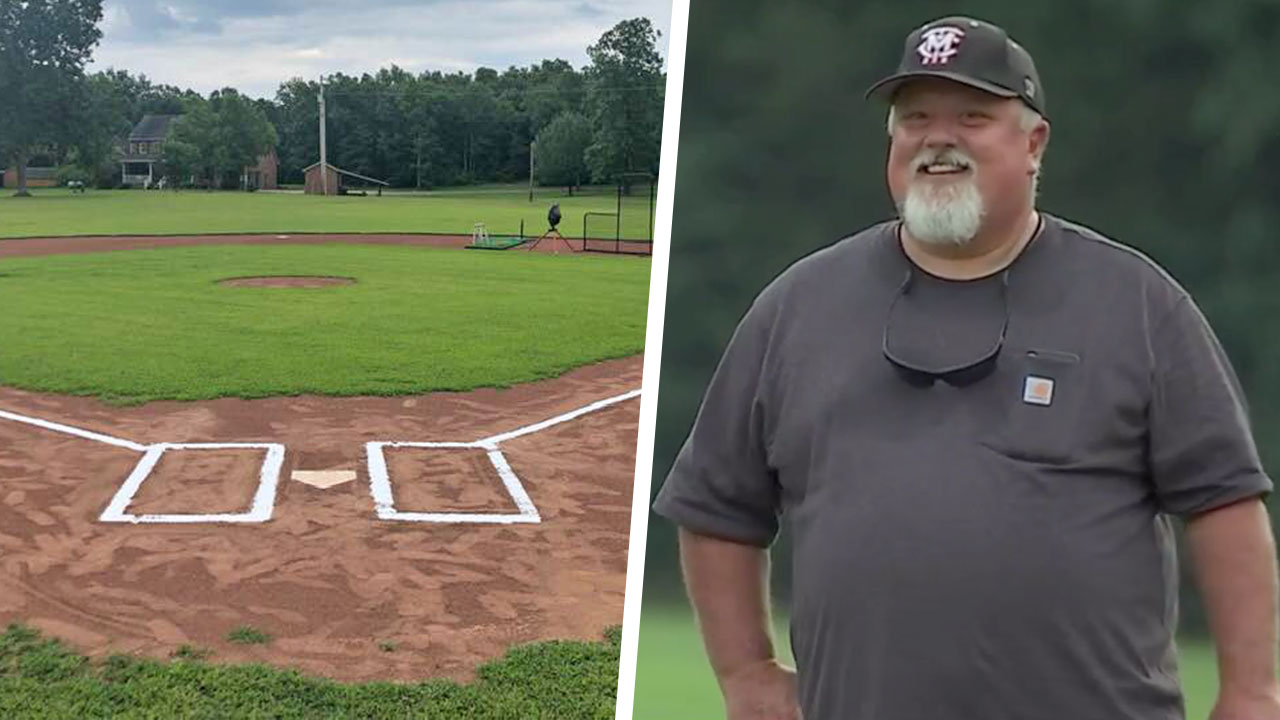 Tony Cortez Builds Baseball Field