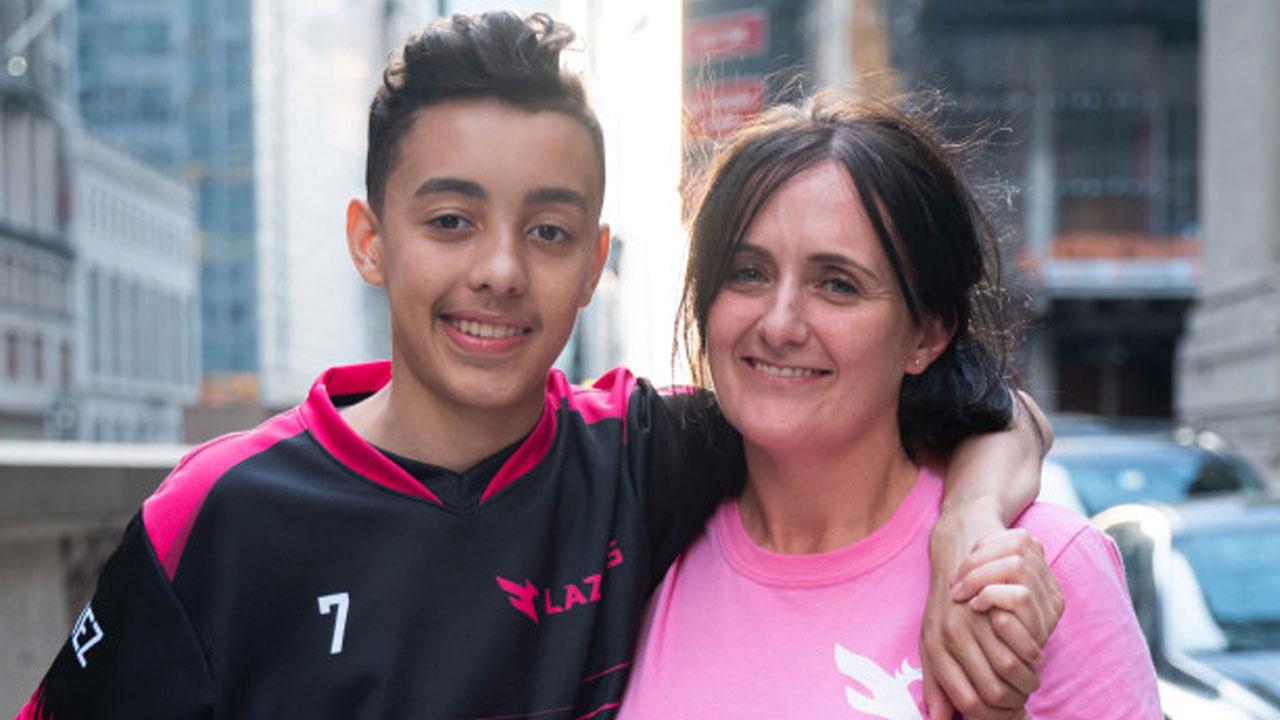 Jaden Ashman and mom Lisa Dallman