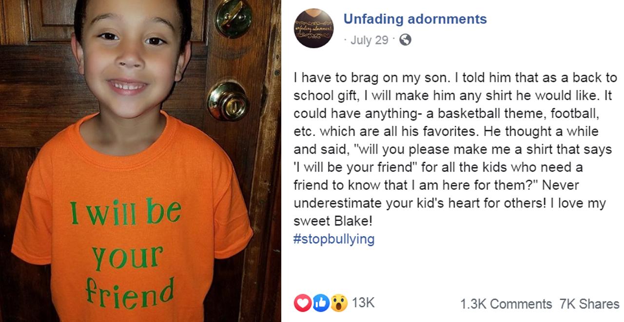 I'll Be Your Friend Anti-Bullying Shirt