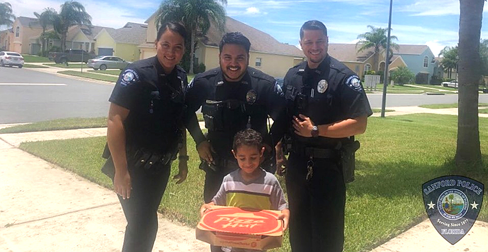 Sanford Cops Deliver Pizza