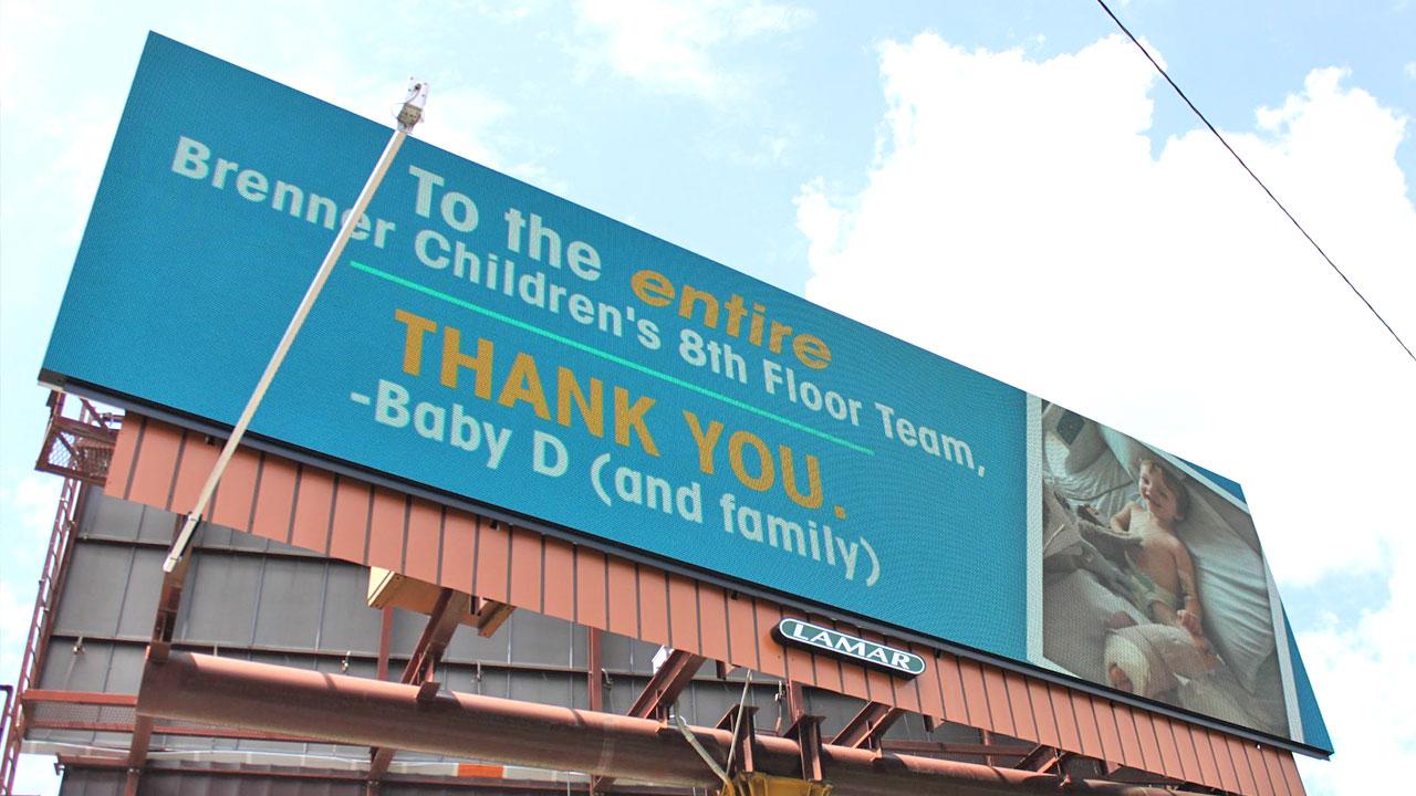 Dan Driscoll's Thank You Billboard