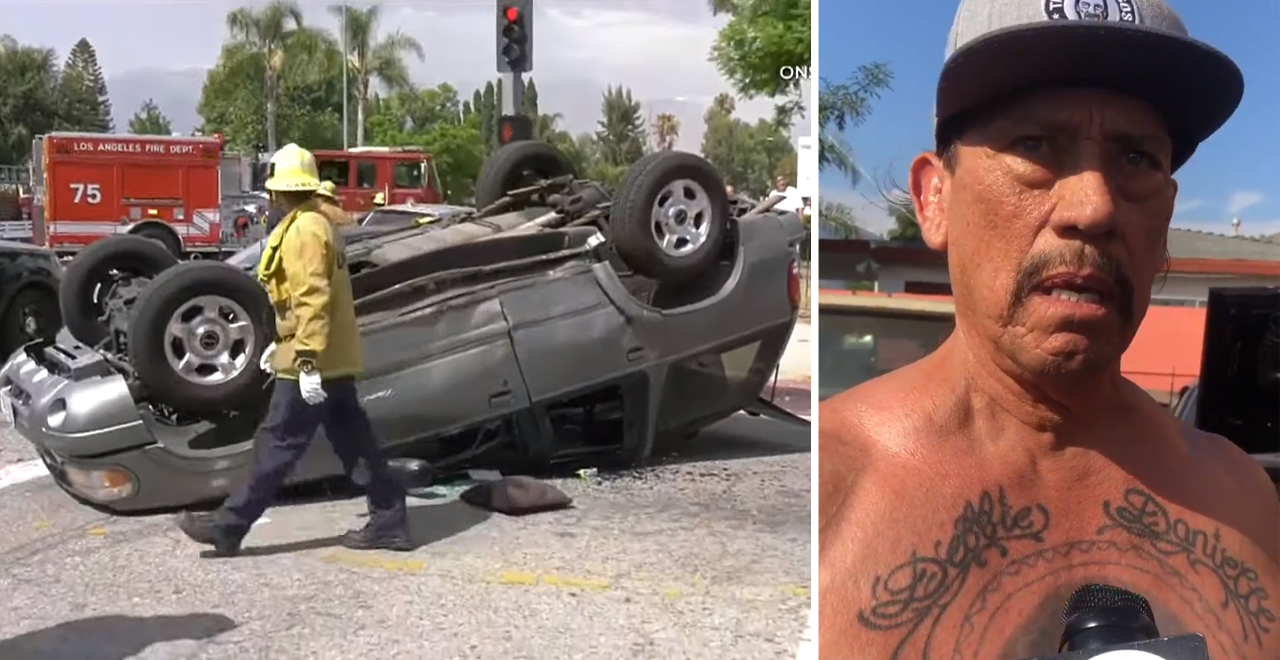 Danny Trejo Helps Boy After Car Accident