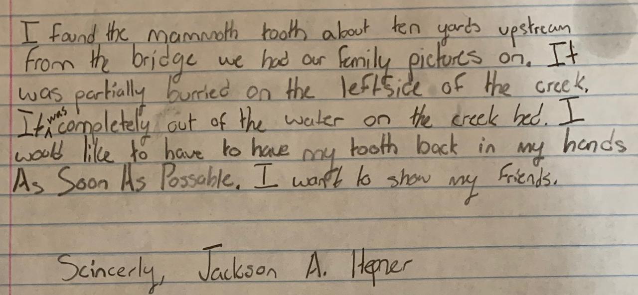 Jackson Hepner Woolly Letter