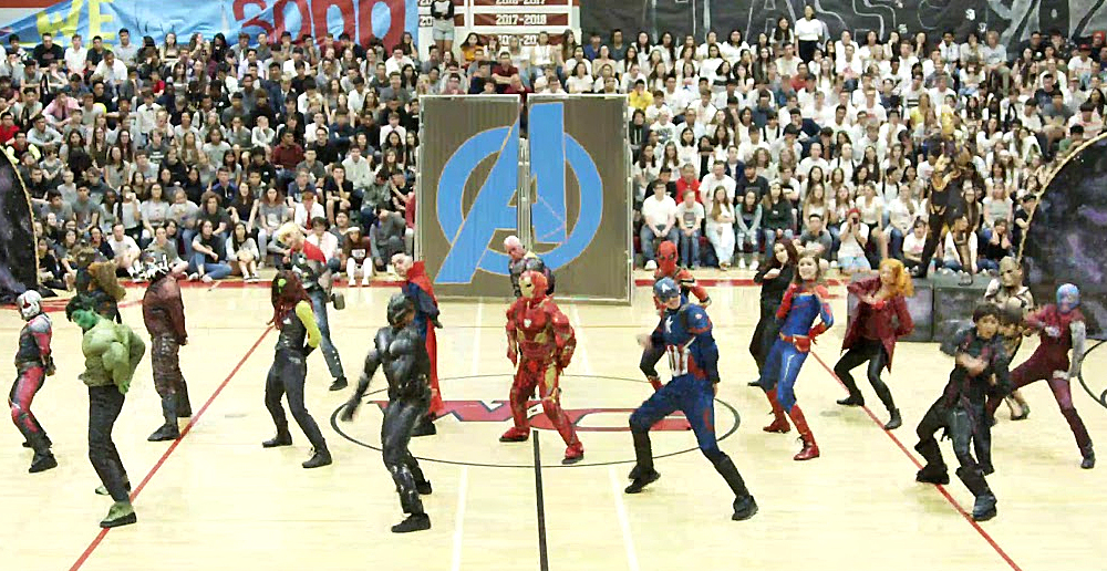 High School Does Avengers Dance