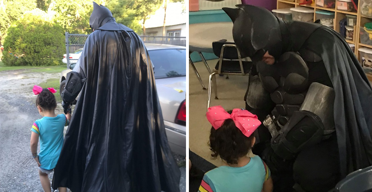 Batman Escorts Bullied 3-Yr-Old