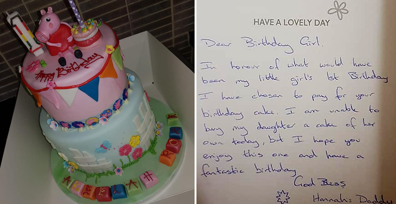 Dad Buys Cake for Stranger