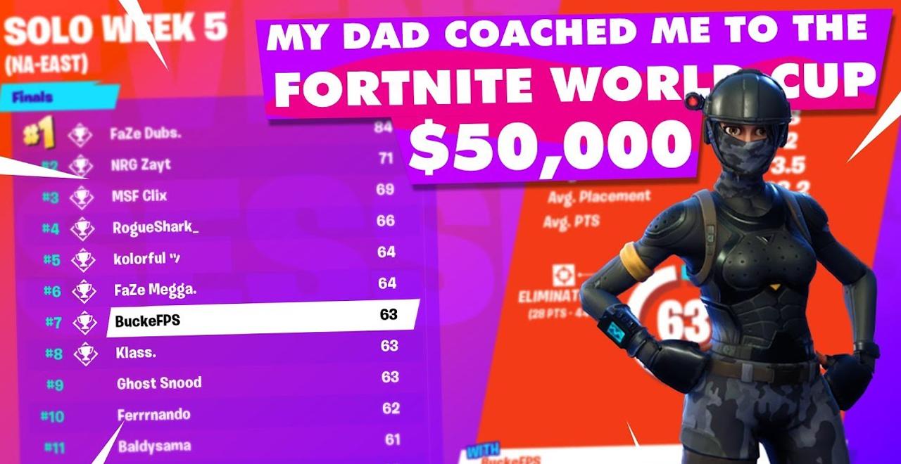 Dad Coaches Son into Fortnite Championship