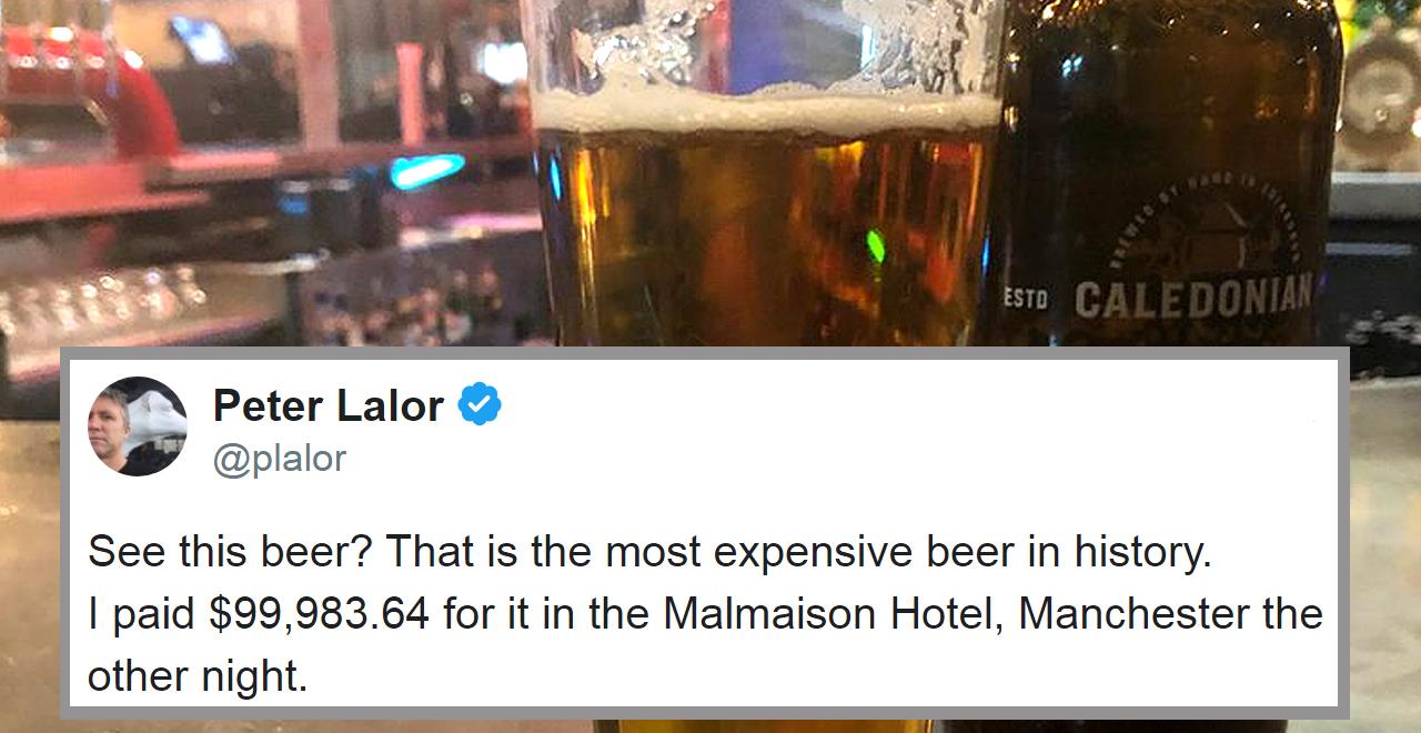 Peter Lalor's $68k Beer