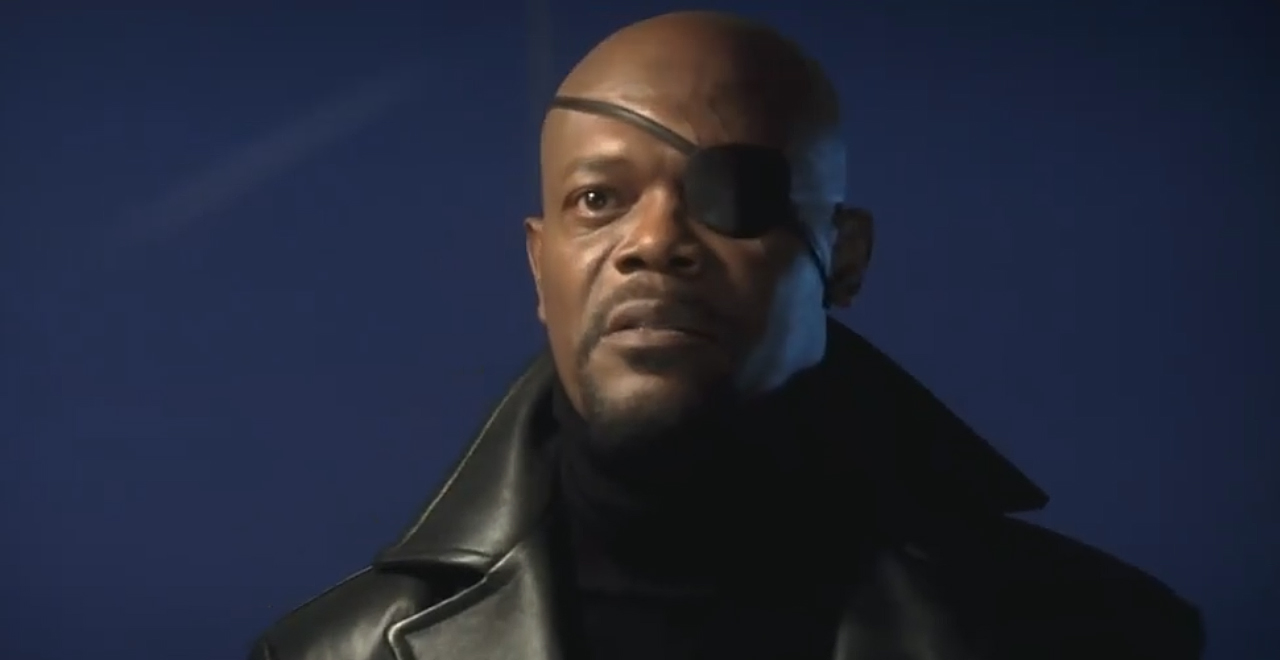 Nick Fury in Deleted Iron Man Scene