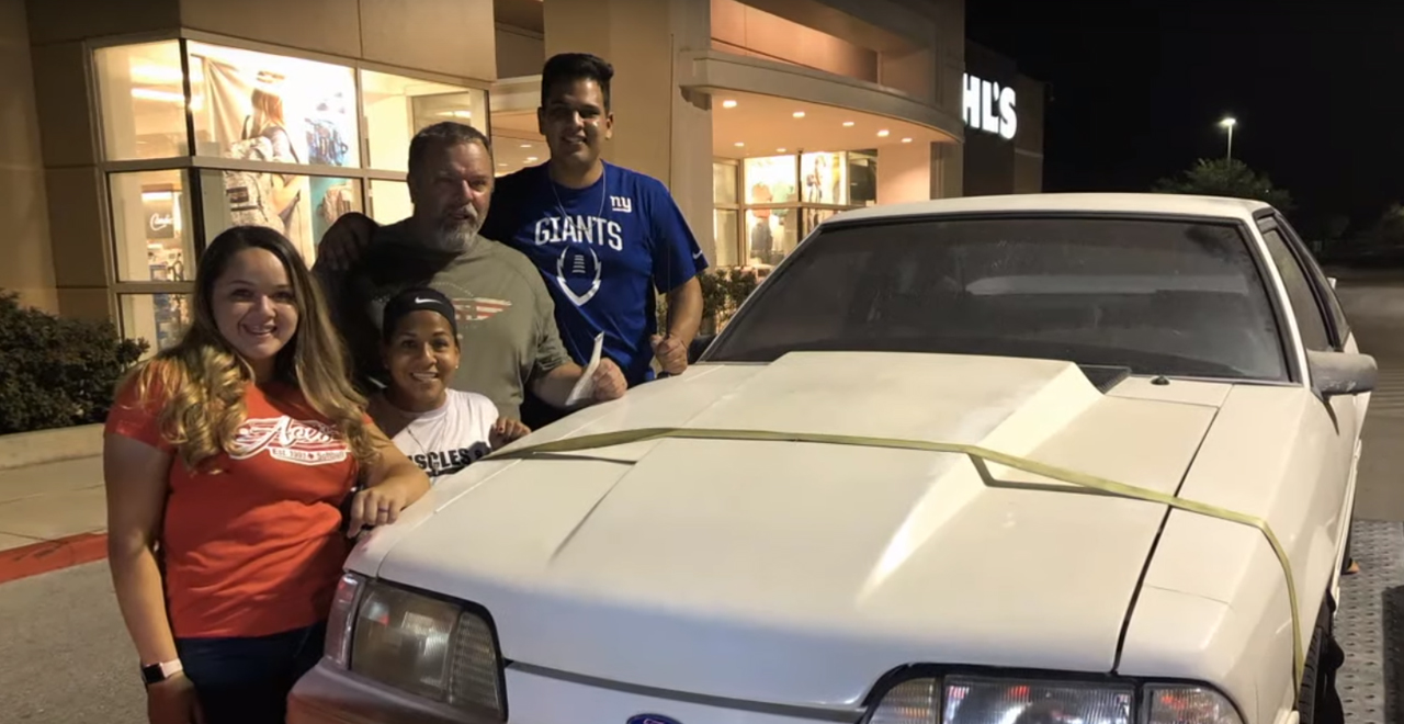 Wesley Ryan and Family with Mustang