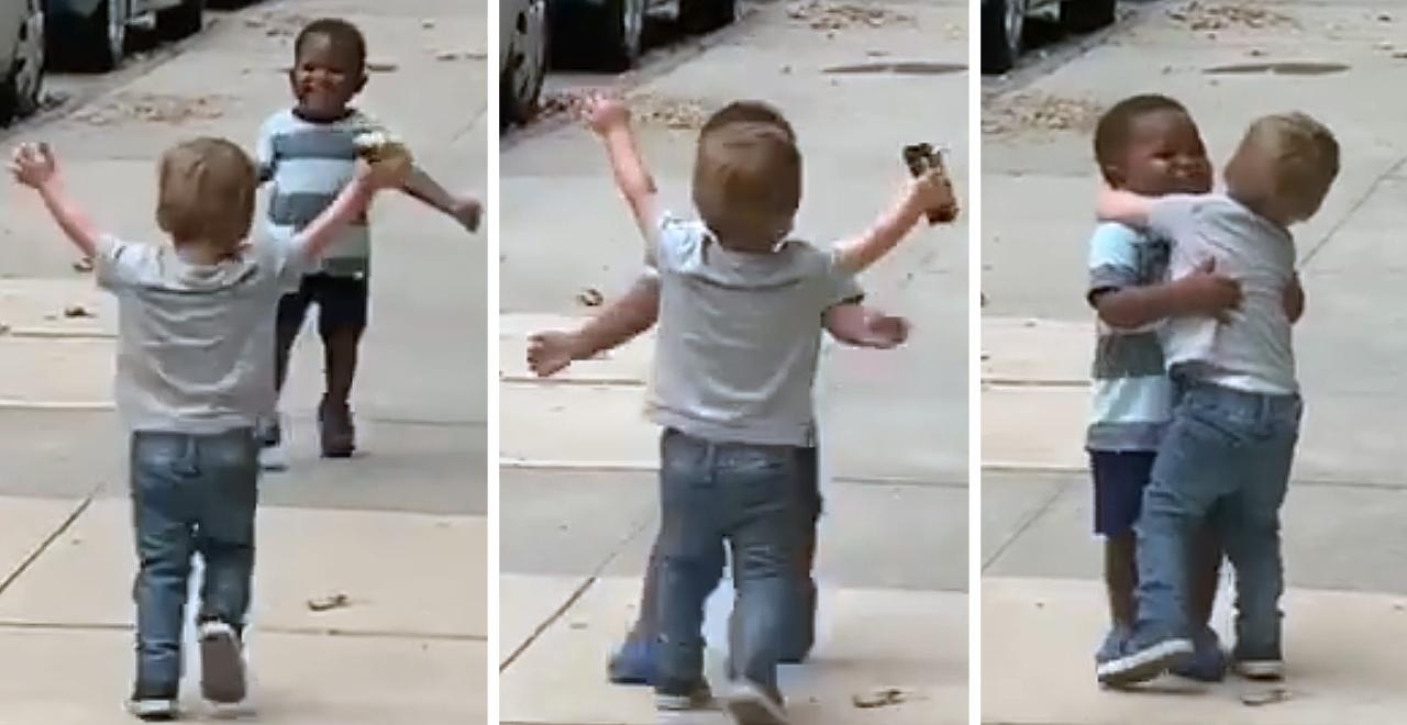 Viral Toddler Hug Video