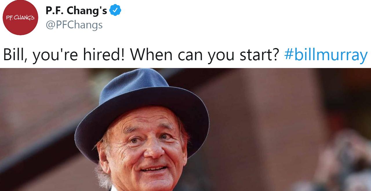 Bill Murray Hired at PF Chang's